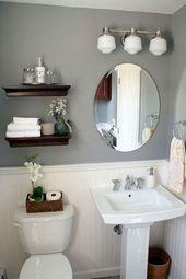 +39 Ideen für ein halbes Badezimmer …