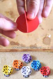 Simple Paper Ladybug Craft for Kids – Gestaltung, Basteln, Haus und Garten