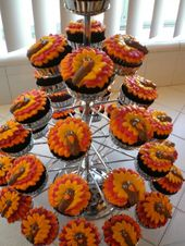 Thanksgiving Cupcakes | Turkey Cupcakes from Tallgirl197528 on Cake Central :