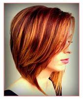 Mittellange rote Frisuren Suelto - Haarfarbe: rote Frisuren wunderschöne Ideen Damen kurze ...