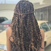 7Pcs Passion Twist Braiding Hair Extensions Synthetic Water Wave Crochet for Pas … # braids # hairstyles # hairstyles braids