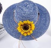 2017 summer hats for women Fashion Vintage Linen Beach hat outdoor sunflower hat Feminino Fedora Hat Ladies Chapeau 6 Colors – Products