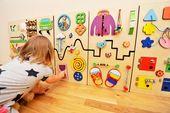 Conseil occupé ensemble meubles Montessori pour enfants chambre Montessori enfant en bas âge jeu calme Conseil sensoriel Jouet éducatif Montessori matériaux Occupé cube