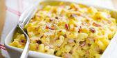 Gratin de pâtes au jambon   – REGIME SANS RESIDUS