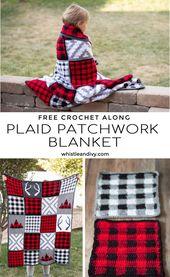 Crochet Plaid Patchwork Blanket – Free Crochet Along
