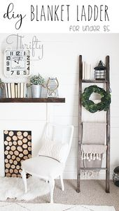 Diy Blanket Ladder For A Babys Room In  Home Decor Pinterest Diy Blanket Ladder Diy And Diy Woodworking