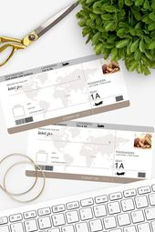 Free Download – Great coupon in the look of a plane ticket