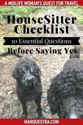 House Sitter Checklist | 10 Questions to Ask Homeo…