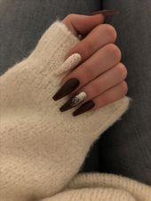 Die winterinspirierten Nail Art Designs eignen sich perfekt für den Winterurlaub 2018! Ho … – WooHoo – Nägel