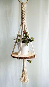 Macrame Plant Hanger – Modern Plant Hanger – Hanging Garden – Indoor Garden … …  – Deko