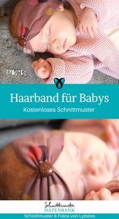 Baby Blanket Haarband für Babys kostenloses Schnittmuster gratis Freebook Maße Nähidee Sto...