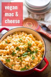 This Creamy Vegan Mac And Cheese Is Made With Pasta Smothered In A Creamy Flavor Packed But Dairy Vegan Mac And Cheese Whole Food Recipes Vegan Pasta Recipes