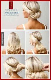 Hair band hairstyle – #frisur #haarband – #KurzeHaareHaarband