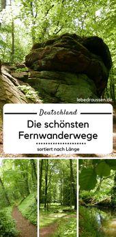 Deutschlands schönste Fernwanderwege – sortiert nach Länge