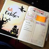 32 Fabulous October Bullet Journal Themes {Hallowe…