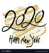 2020 design for new year Royalty Free Vector Image