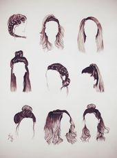 Hair #Hair #Hairstyles Draw Hair Hair #Hair #Hairstyles Draw Hair Hair ideas for all hair lengths There are thousands of different haircuts …