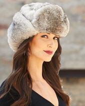 The Moscow Full Fur Rabbit Ladies Russian Hat in Grey: FurHatWorld.com – Festival Costuming