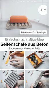 DIY Seifenschale aus Beton selber machen – Badezimmer Makeover Teil 1