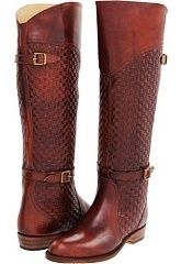 FRYE Damen Dorado Reitstiefel Burnt Deep Red Woven Leather 8 RARE NEW