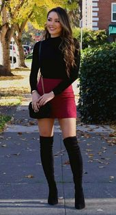 60+ Overknee Stiefel Outfit Street Style Ideen