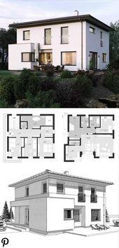 Stadtvilla Neubau modern mit Walmdach Architektur Erker Fenstererweiterung Einfamilienhaus zu …   – Haus Neubau