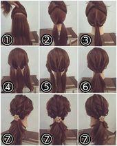 Sweet hairstyle – Instructions for every day Chikk.net #anleitung #chikk #frisur #jeden