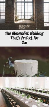 The Minimalist Wedding That's Perfect For You  – Garden Wedding