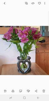 Handgemachte Hufeisen Herz Vasenhalter verwendet Hufeisen Geschenk für Pferdeliebhaber Muttertag Valentinstag Geburtstag Jubiläum Special Upcycled
