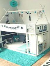 #Ikea Kura – Kallax & crib mattress on bottom…. great toddler floor bed idea  – baby boy