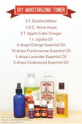 DIY Young Living Essential Oil Moisturizing Toner #FaceCleanserHomemade#BeautyBl…