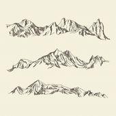 Handgezeichnete illustration berge premiu … | Premium Vector #Freepik #Vektor #Schnee #Reisen #Hand