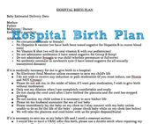 Things To Consider When Writing A Birth Plan  Birth Pregnancy