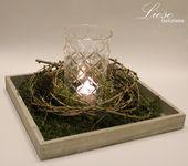 Kerzen & Beleuchtung – Kerzenlicht im Lärchenkranz – ein Designerstück von Lie… – schöne Deko