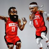 Instagram von Kevin Deng: #nbaart #nba #houstonrockets #rockets #jamesha …   – Basketball
