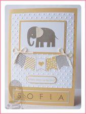 Baby Cards Stampin' Up! Rosa Mädchen Babykarte mit Fähnchen, Zoo Babies und Back to B...