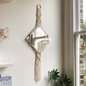 Make a beautiful Macrame Mirror Han …