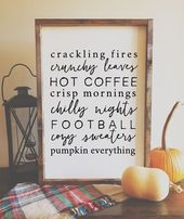 Fall Things Sign – Wooden Farmhouse Sign