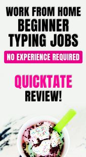 work from home beginner typing jobs no experience needed