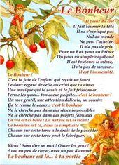 """Beau Texte sur le """" BONHEUR """""""