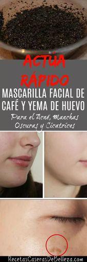 Mascarilla Facial de Café y Yema de Huevo