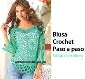 Blusa crochet famosa por Ana Maria Braga  – labores de aguja y telar