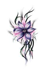 نتیجه تصویری برای tatuajes flores moradas