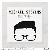 Der Haar-Stylist der einfachen u. Hoch entwickelten Visitenkarten   Zazzle