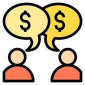 Chat, coin, holiday, lifestyle, people, save, technology icon