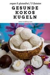 Gesunde Kokosbällchen – Bounty und Raffaello Kugeln