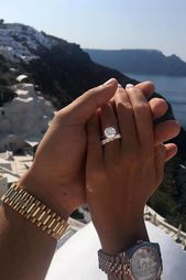 27 Simple Engagement Rings For Girls Who Love Classic ❤️ simple engagement rings sets round diamond pave bands ❤️ See more: www.weddingforwar….