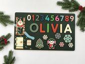 Personalisierte Weihnachtsgeschenk Holzname Puzzle Baby Girl und Baby Boy Geschenk 1. Geburtstagsgeschenk Baby erste Weihnachten XMas Geschenk personalisiert   – Products