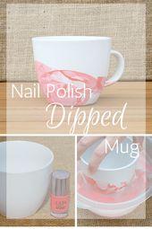 How To Make A Nail Polish Dipped Mug Easily DIY