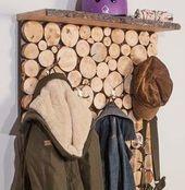 DIY-Anleitung: Garderobe in Holzstapeloptik selber… – #DIYAnleitung #Garderobe…, #DIYAnl… – Mein Blog – Garderobe Selber Machen